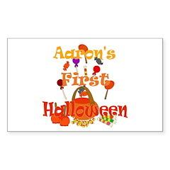 First Halloween Aaron Sticker (Rectangle)