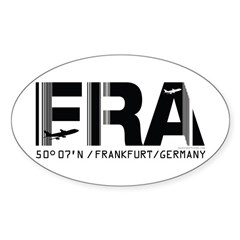 Frankfurt Germany Airport Code FRA Sticker (Oval)