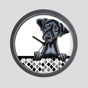Black Lab Diamond Wall Clock