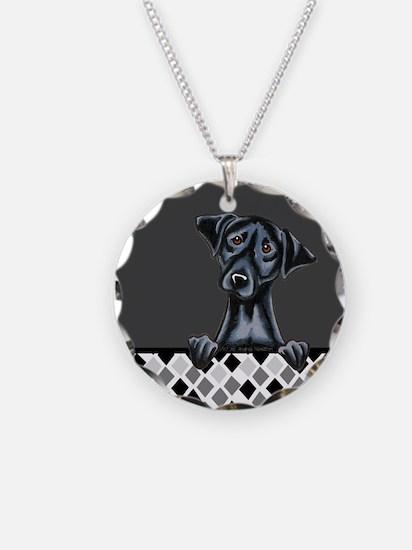 Black Lab Diamond Necklace