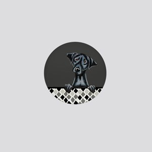 Black Lab Diamond Mini Button