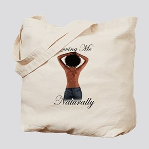 Loving Me Naturally Afro Natural Hair Hands Tote B