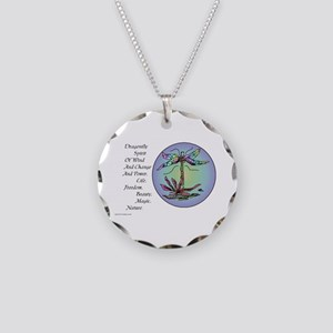 BRIGHT DRAGONFLY SPIRIT Necklace Circle Charm