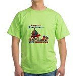 America's Real Illness Green T-Shirt