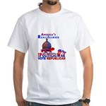 America's Real Illness White T-Shirt