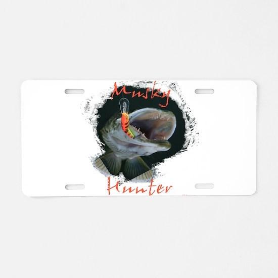 Musky hunter,3 Aluminum License Plate