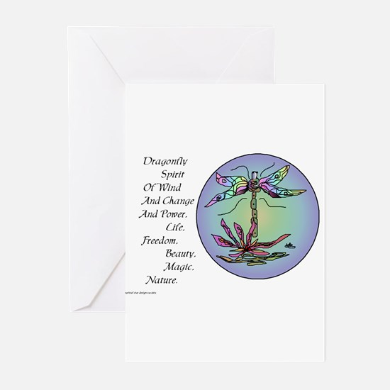 BRIGHT DRAGONFLY SPIRIT Greeting Cards (Pk of 10)