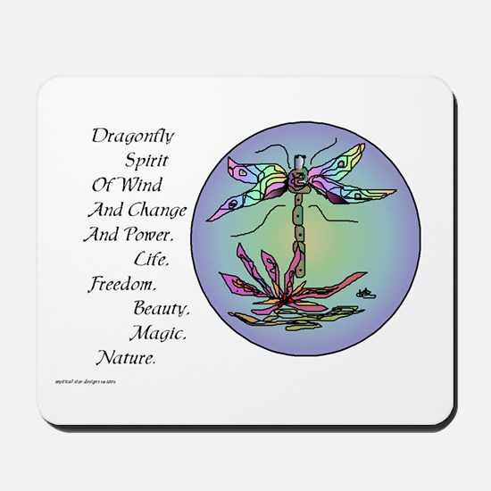 BRIGHT DRAGONFLY SPIRIT Mousepad