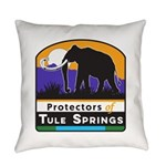 Protectors of Tule Springs Logo Everyday Pillow