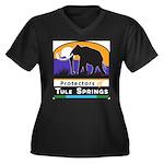 Protectors of Tule Springs Logo Plus Size T-Shirt