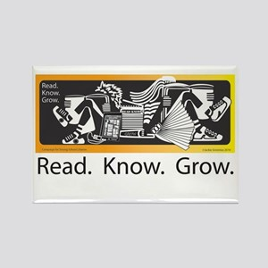 Read.Know.Grow. Rectangle Magnet