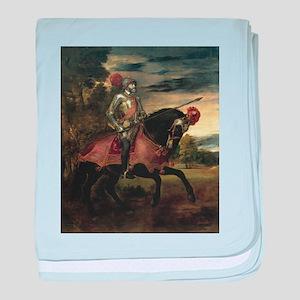 Equestrian Portrait of Gianca baby blanket