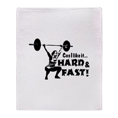 Cos I Like It Hard and Fast Throw Blanket