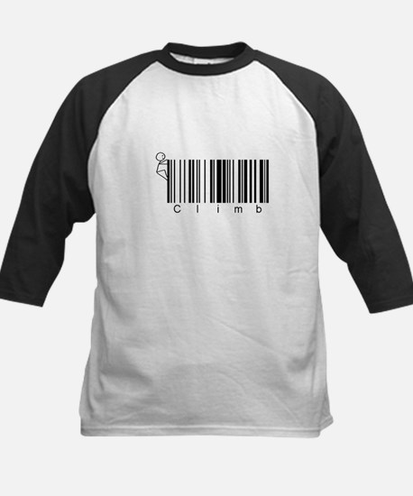 Bar Code Climb Kids Baseball Jersey