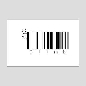 Bar Code Climb Mini Poster Print