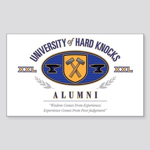 Hard Knocks U Sticker (Rectangle)