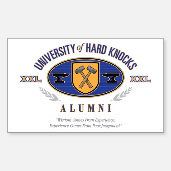 Hard Knocks U Sticker (Rectangle)