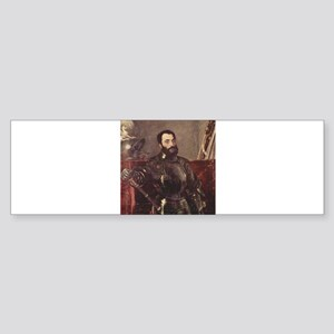 Portrait of Duke of Urbino Sticker (Bumper)