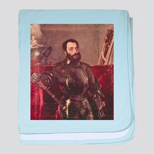 Portrait of Duke of Urbino baby blanket