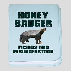 Honey Badger Vicious & Misunderstood baby blanket