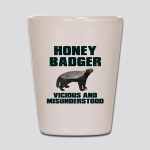 Honey Badger Vicious & Misunderstood Shot Glass