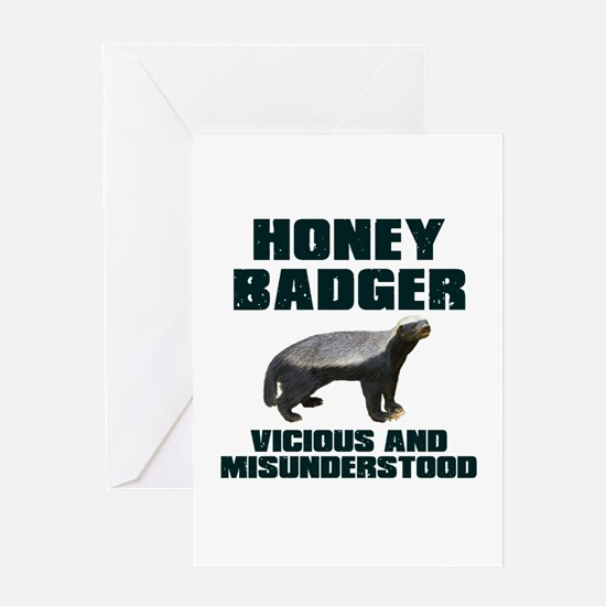 Honey Badger Vicious & Misunderstood Greeting Card