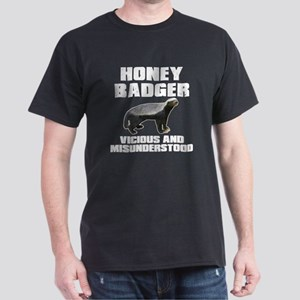 Honey Badger Vicious & Misunderstood Dark T-Shirt