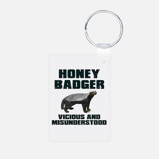 Honey Badger Vicious & Misunderstood Keychains