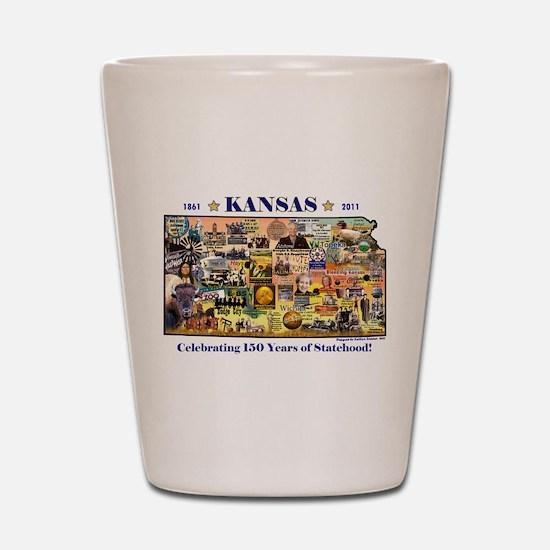 Images of Kansas, Celebrating Shot Glass
