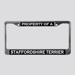 Property of Staffordshire Terrier License Frame