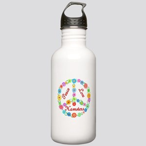 Peace Love Hamsters Stainless Water Bottle 1.0L