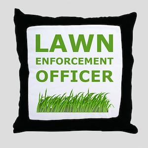 Lawn Enforcement Officer Throw Pillow