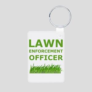 Lawn Enforcement Officer Aluminum Photo Keychain