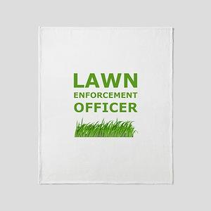 Lawn Enforcement Officer Throw Blanket