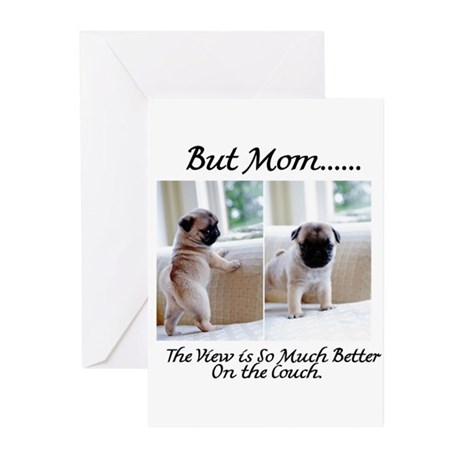 The Pugs Make the Rules Greeting Cards (Pk of 20)