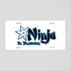 Training Ninja Aluminum License Plate