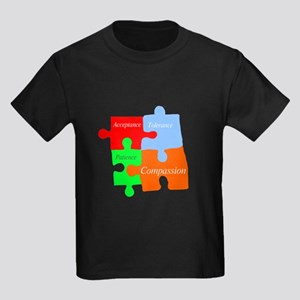 Autism puzzle pieces 1 Kids Dark T-Shirt