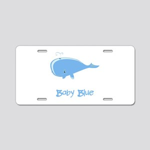 Baby Blue Whale Aluminum License Plate