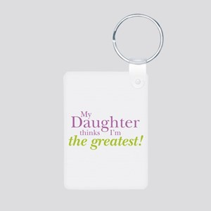 My Daughter Aluminum Photo Keychain