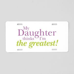 My Daughter Aluminum License Plate