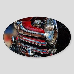 Super Deluxe Vintage Car Sticker (Oval)