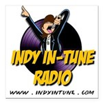 Indy In-Tune Logo 2014 - Light Square Car Magnet 3