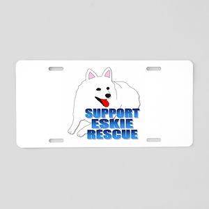 Support Eskie Rescue Aluminum License Plate