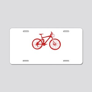 Red Mountain Bike Aluminum License Plate