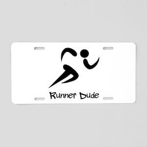 Runner Dude Aluminum License Plate