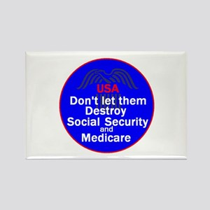 Social Security Rectangle Magnet