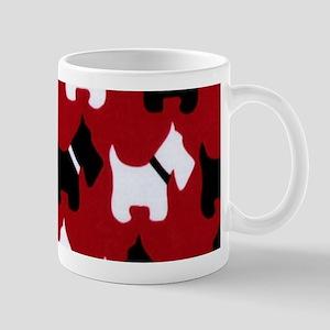 Scottish Terrier Scottie Dog Pattern Mugs