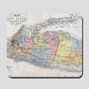Vintage Map of Long Island New York (185 Mousepad