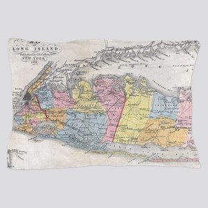 Vintage Map of Long Island New York (1 Pillow Case