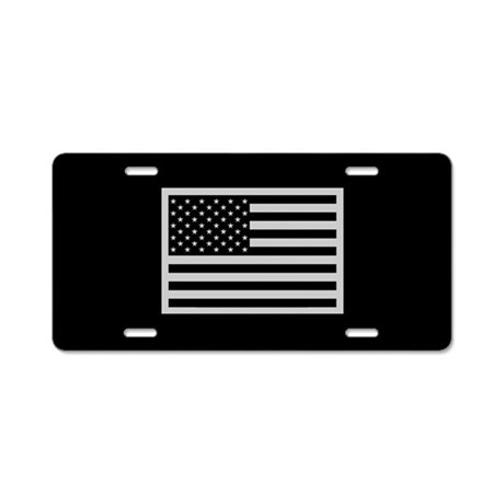 Subdued US Flag Tactical Aluminum License Plate